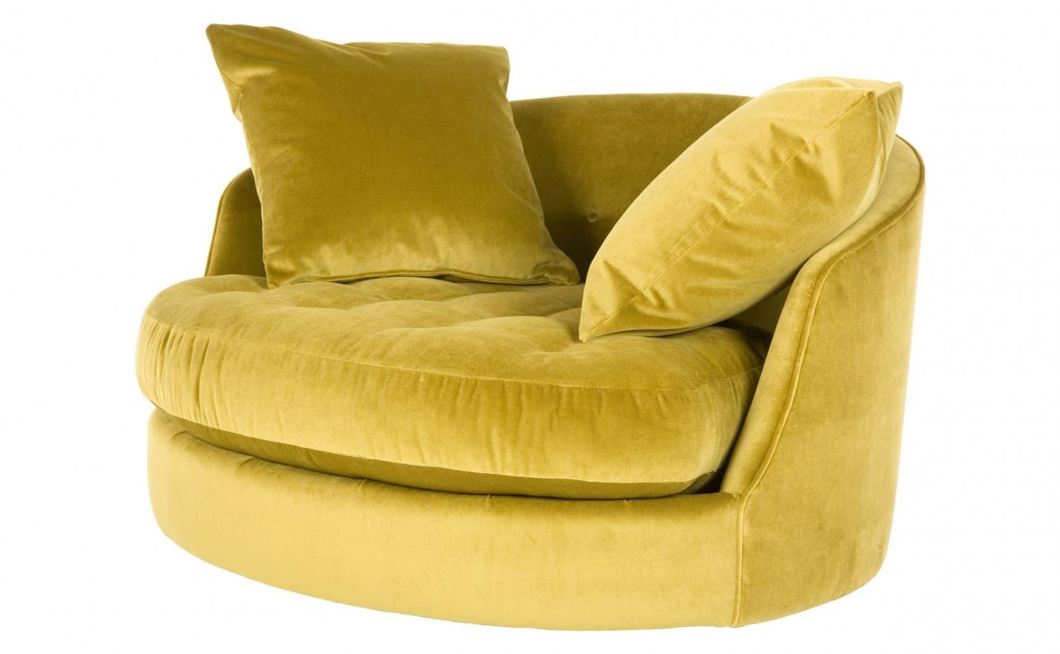 Round Swivel Cuddler Chair — Jen & Joes Design : How To Build inside Cuddler Swivel Sofa Chairs (Image 20 of 30)