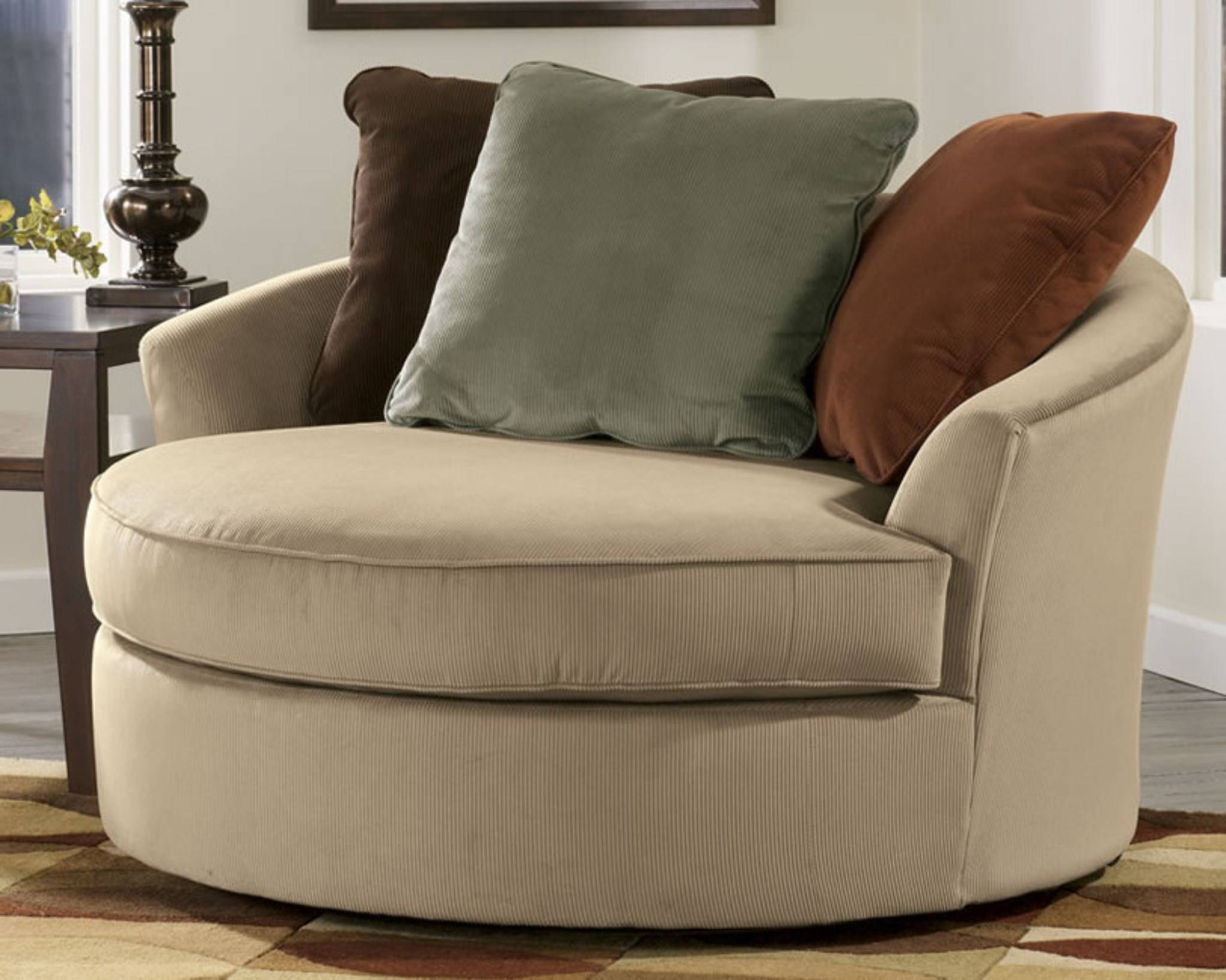 Round Swivel Sofa Chair - Leather Sectional Sofa within Spinning Sofa Chairs (Image 19 of 30)