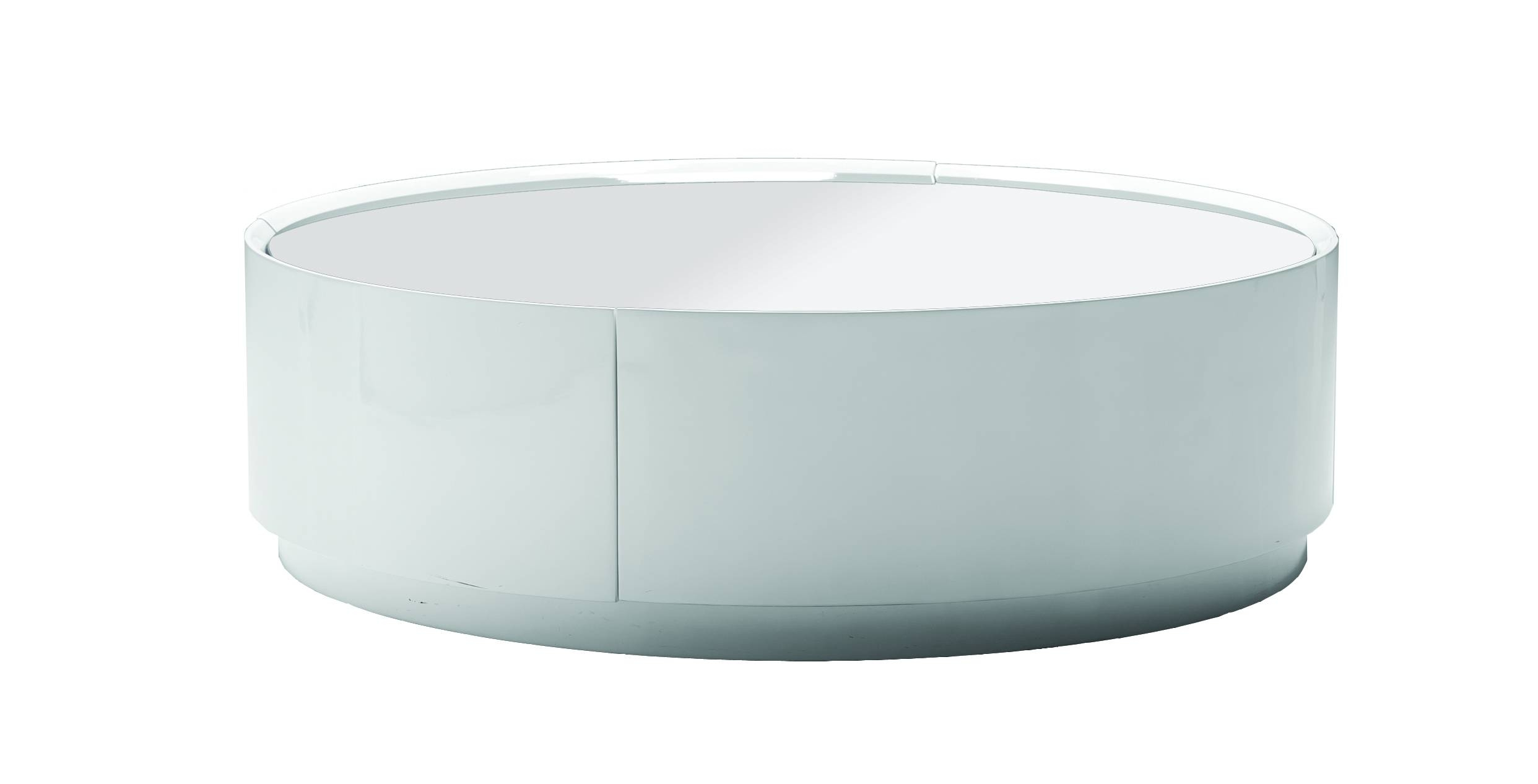 Round White Coffee Table For Living Room Glass Coffee Tables with Oval White Coffee Tables (Image 27 of 30)