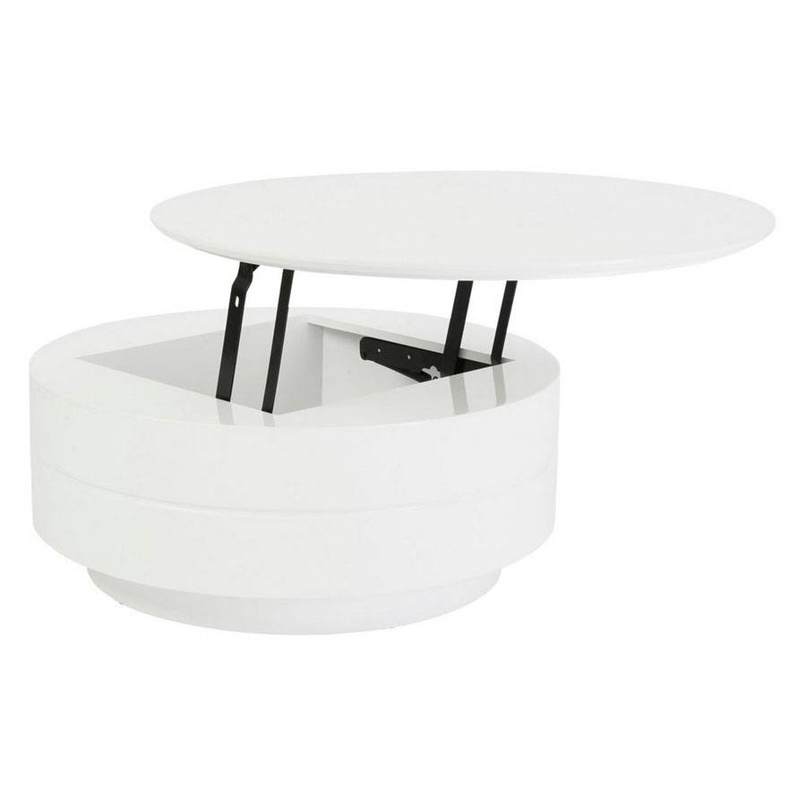 Round White Lacquer Coffee Tables | Coffee Tables Decoration for Round High Gloss Coffee Tables (Image 20 of 30)