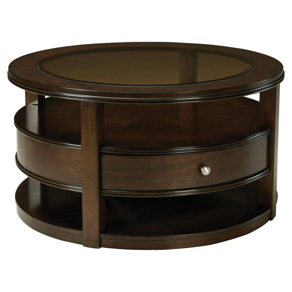 Round Wood Coffee Table With Storage inside Hardwood Coffee Tables With Storage (Image 24 of 30)