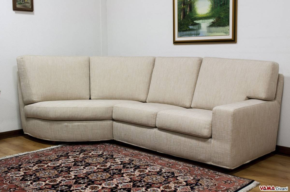 Rounded Corner Fabric Sofa With Removable Cover in Rounded Sofa (Image 20 of 25)