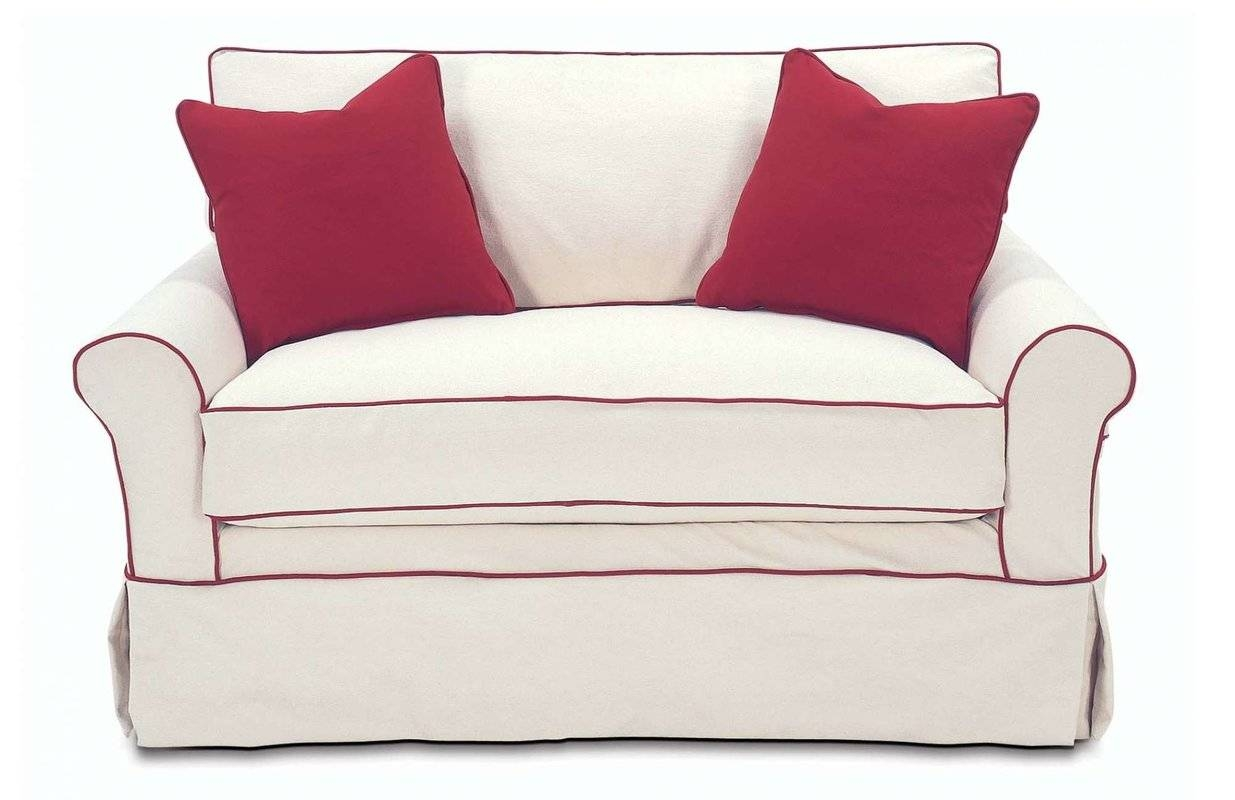 Rowe Furniture Somerset Twin Sleeper Sofa & Reviews | Wayfair in Twin Sleeper Sofa Chairs (Image 13 of 30)