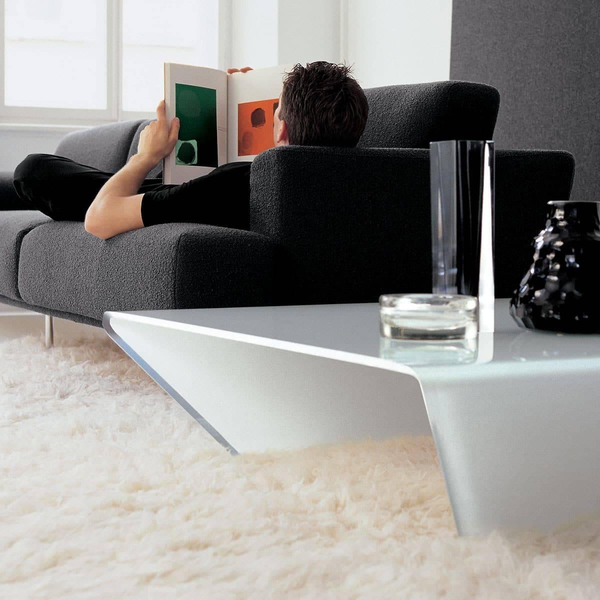 Rubino Curved Glass Coffee Table - Klarity - Glass Furniture in Curved Glass Coffee Tables (Image 24 of 30)