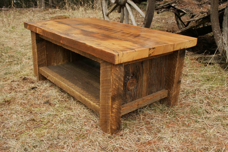 Rustic Barnwood Coffee Table – Barn Wood Coffee Table Diy throughout Rustic Barnwood Coffee Tables (Image 25 of 30)