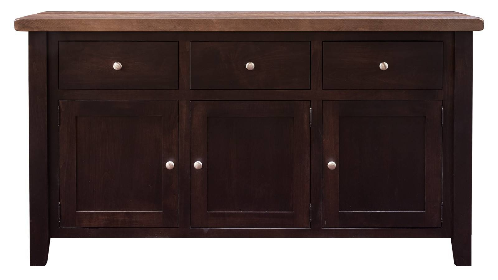 "Rustic Cherry Brown Maple Black Walnut 64"" with Black And Walnut Sideboards (Image 23 of 30)"