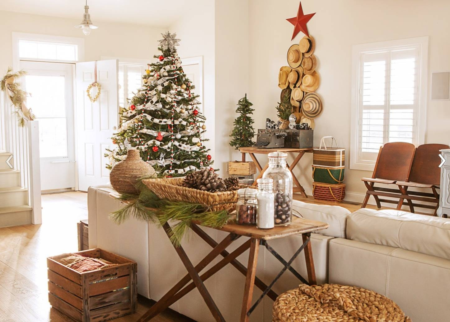 Rustic Christmas Decorating Ideas — Unique Hardscape Design Intended For Rustic Christmas Coffee Table Decors (View 2 of 30)