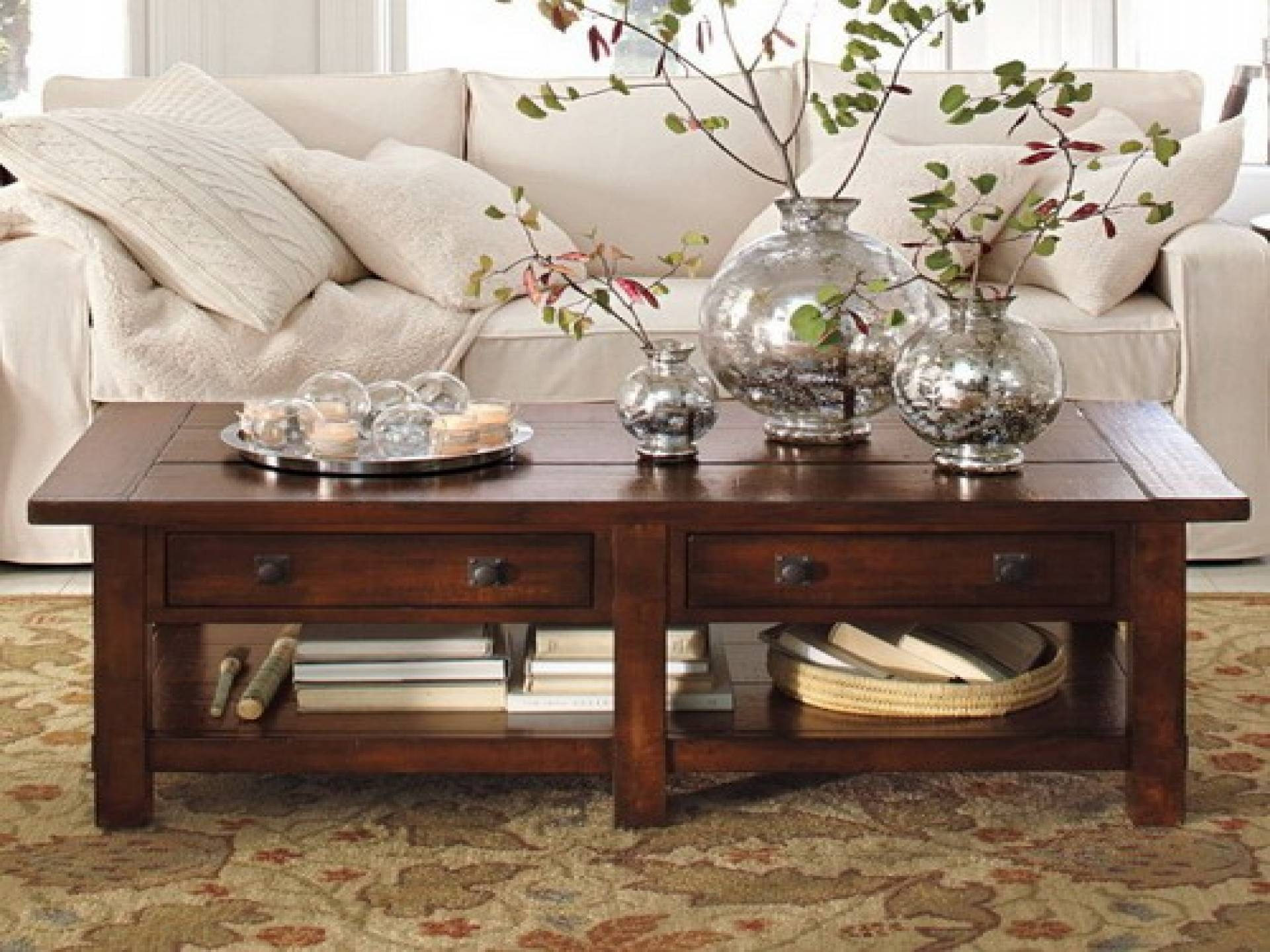 Rustic Coffee Table Decor Ideas | Coffee Table Intended For Rustic Coffee Table Drawers (View 25 of 30)
