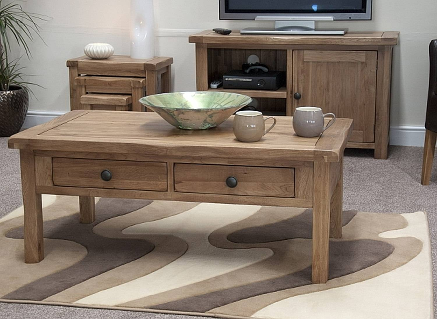 Rustic Coffee Table Sets in Tv Stand Coffee Table Sets (Image 25 of 30)