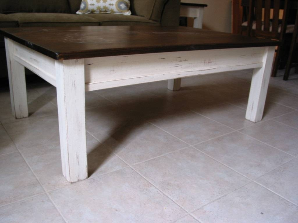 Rustic Coffee Table White Coffee Table Farm House Furniture for White Cottage Style Coffee Tables (Image 29 of 30)