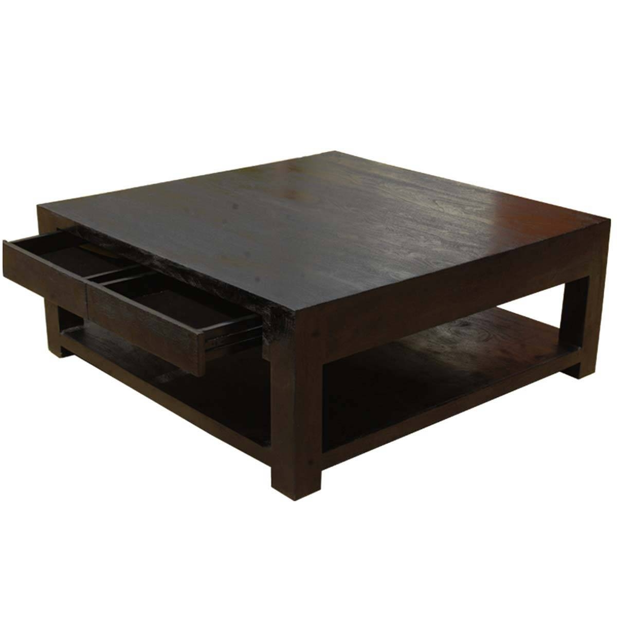 Rustic Coffee Tables throughout Dark Wood Square Coffee Tables (Image 27 of 30)