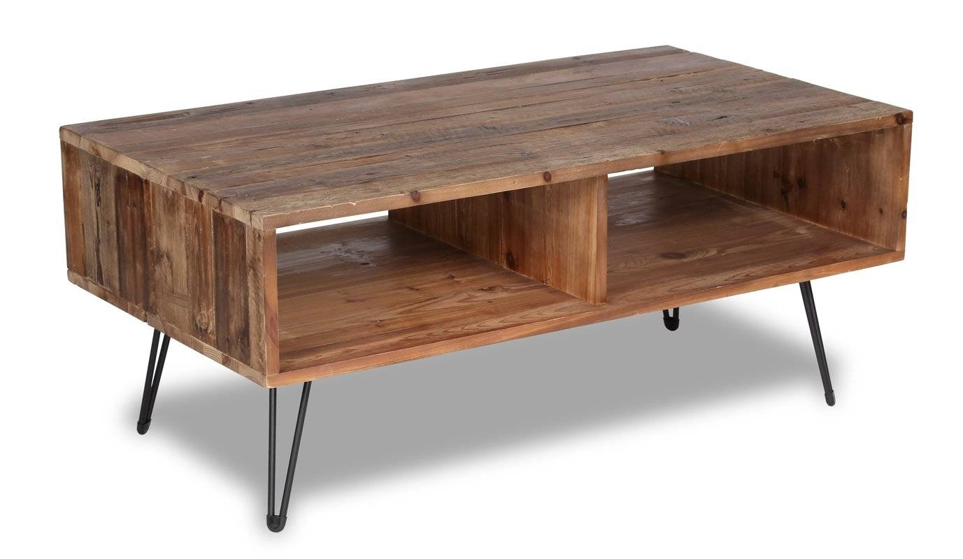 Rustic Coffee Tables You'll Love | Wayfair for Coffee Tables With Clock Top (Image 27 of 30)