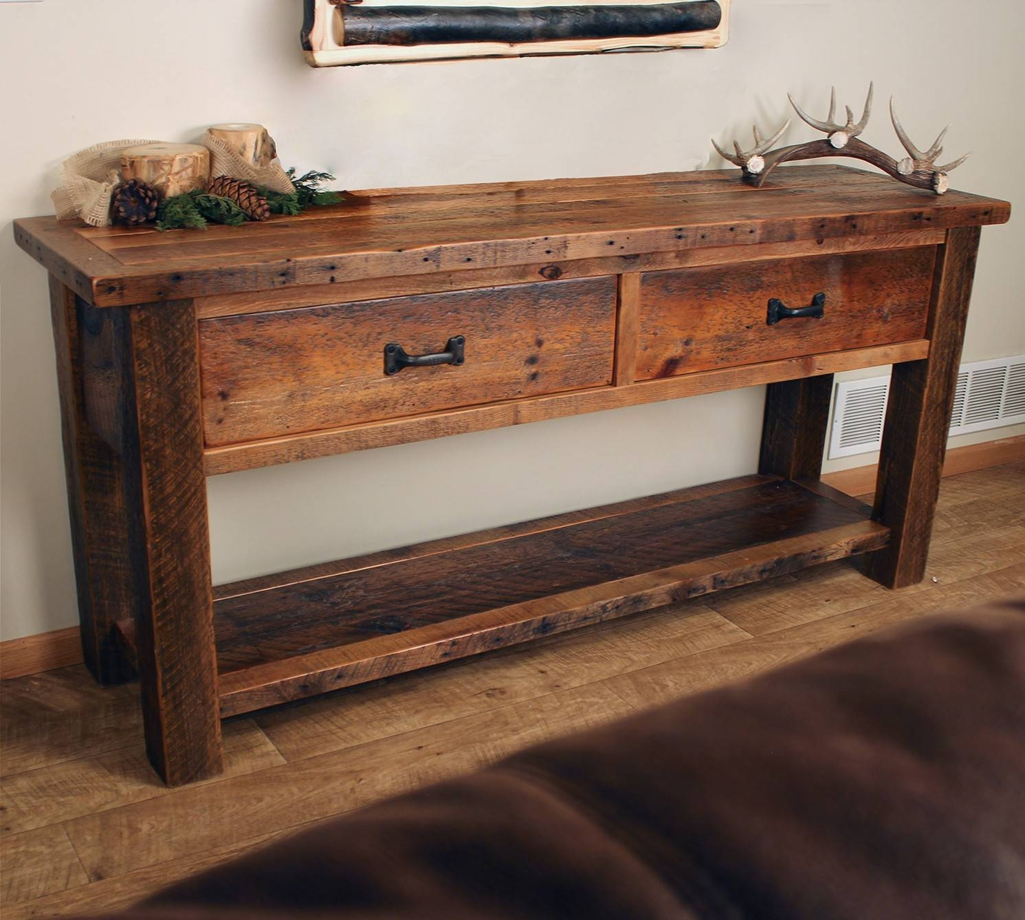 Rustic Console Tables, Entry Tables, And Sofa Tables throughout Sofa Table Drawers (Image 17 of 30)