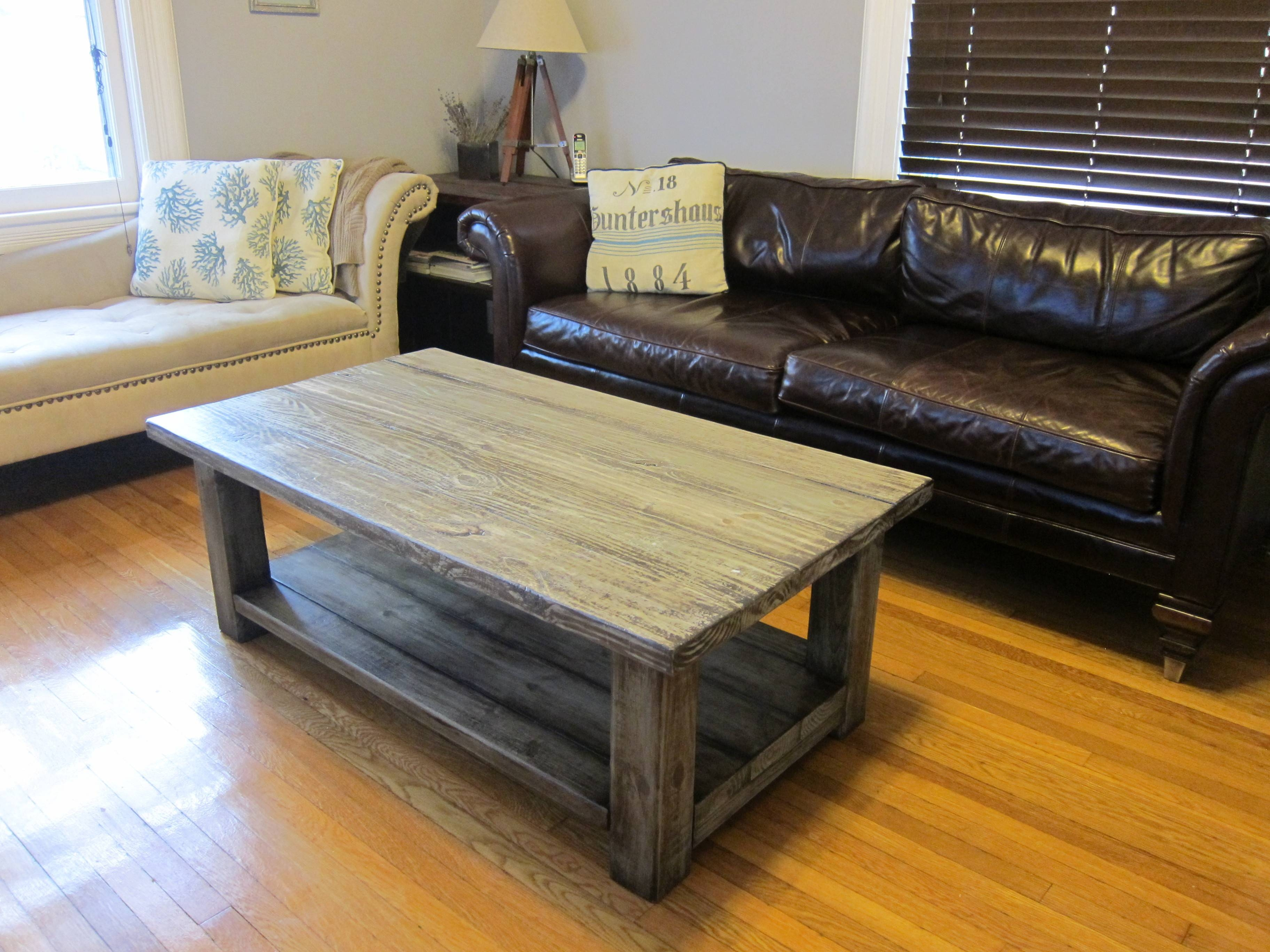 Rustic End Table Diy Distressed Wood Distressed Dark Wood Coffee with regard to Dark Wooden Coffee Tables (Image 30 of 30)