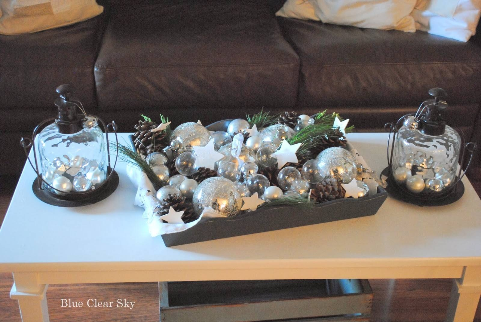 Rustic Maple: Christmas 2013 Living Room Coffee Table Vignette with Rustic Christmas Coffee Table Decors (Image 28 of 30)