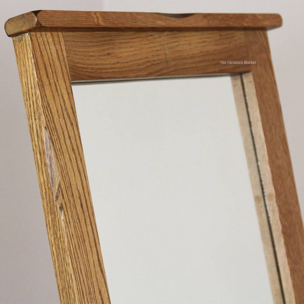 Rustic Oak Cheval Mirror with regard to Rustic Oak Mirrors (Image 19 of 25)