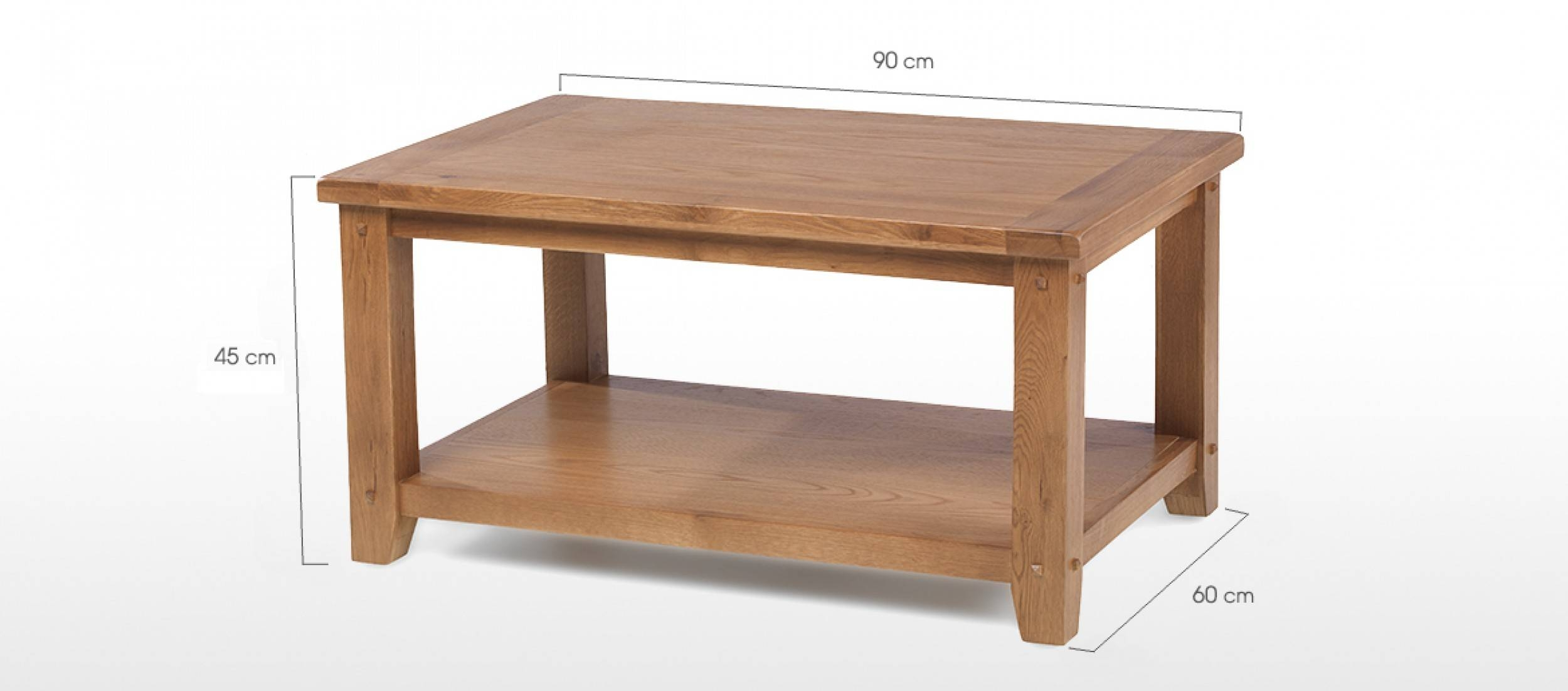Rustic Oak Open Coffee Table | Quercus Living In Chunky Oak Coffee Tables (View 29 of 30)