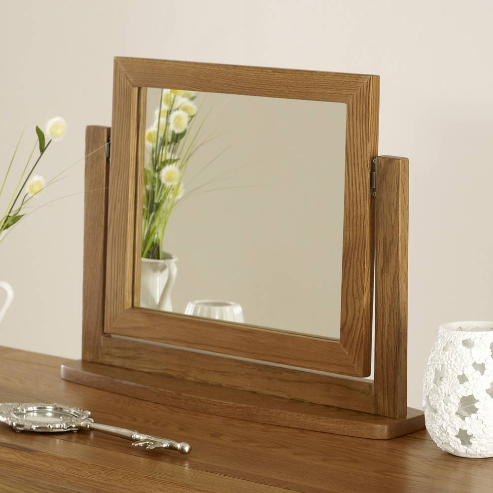 Rustic Oak Pedestal Dressing Table Mirror And Stool Set throughout Rustic Oak Mirrors (Image 21 of 25)