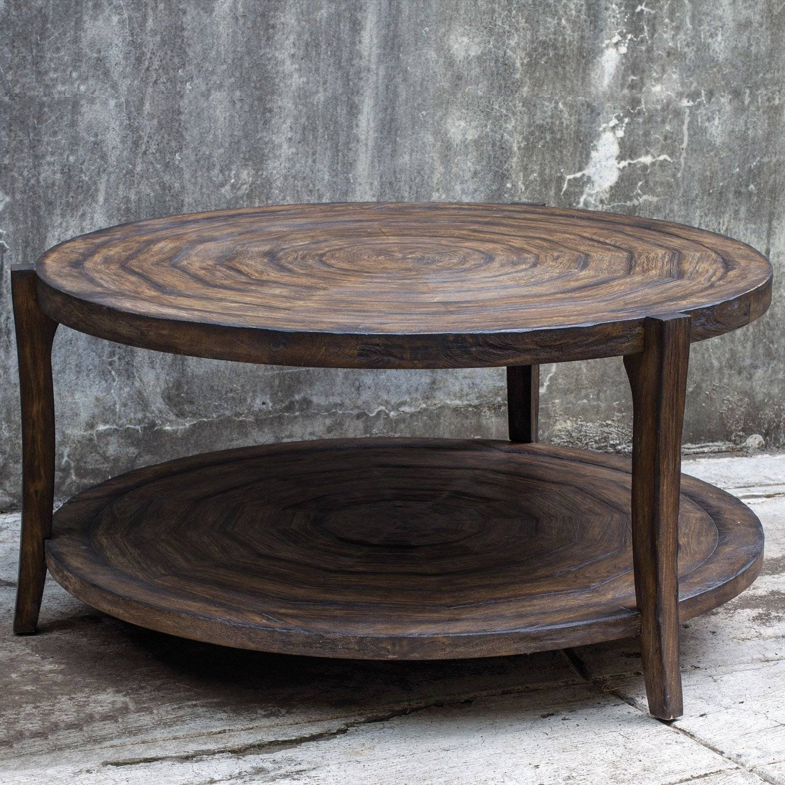 Rustic Round Coffee Tables | Coffee Tables Decoration in Wayfair Coffee Tables (Image 22 of 30)