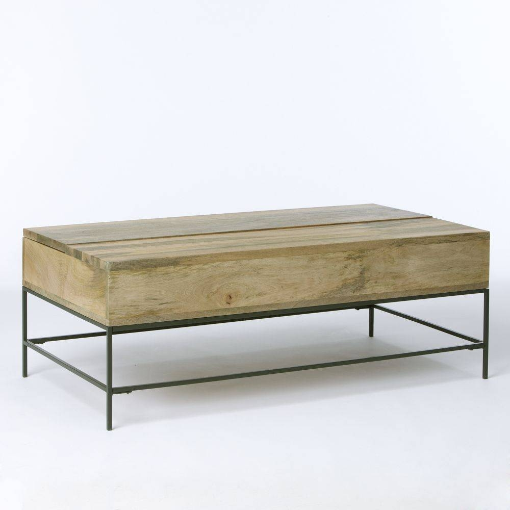 Rustic Storage Coffee Table Raw Mango | Coffee Tables Decoration within Mango Wood Coffee Tables (Image 24 of 30)