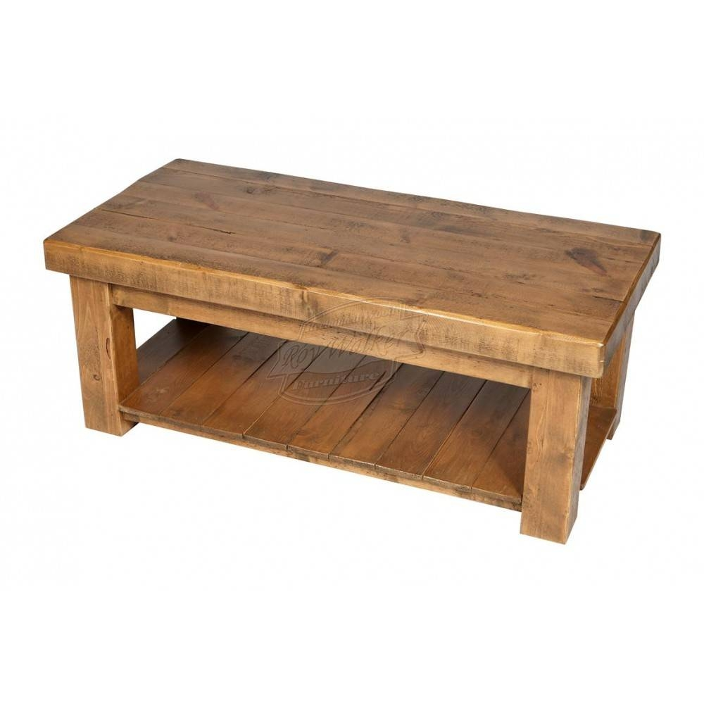 Rustic Wood Coffee Table | Coffee Table Ideas within Chunky Coffee Tables (Image 20 of 30)