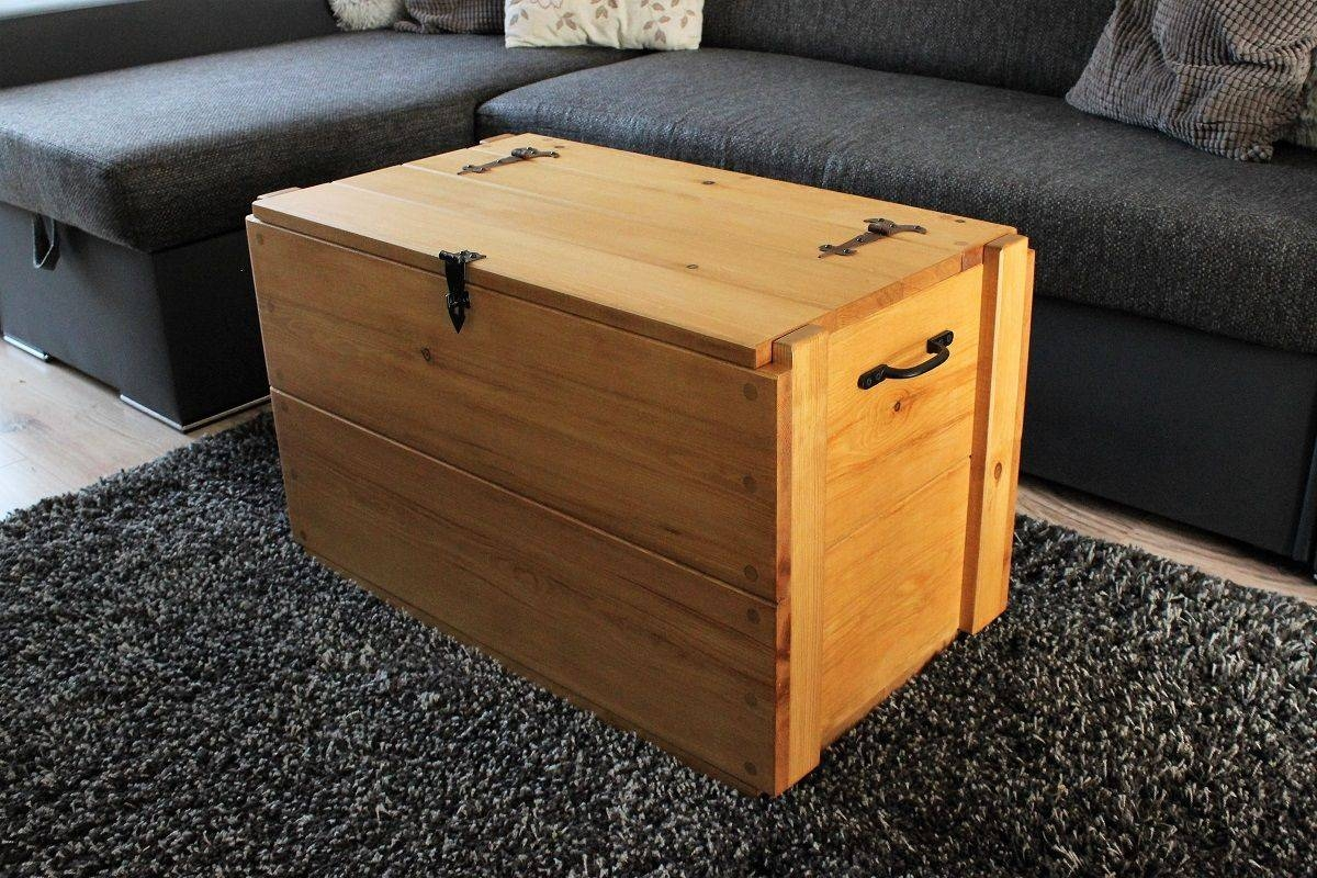 Rustic Wooden Chest Trunk Blanket Box Vintage Coffee Table pertaining to Blanket Box Coffee Tables (Image 20 of 30)