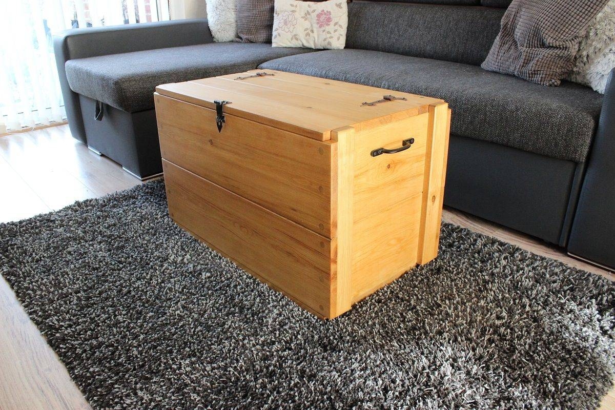 Rustic Wooden Chest Trunk Blanket Box Vintage Coffee Table with Blanket Box Coffee Tables (Image 22 of 30)