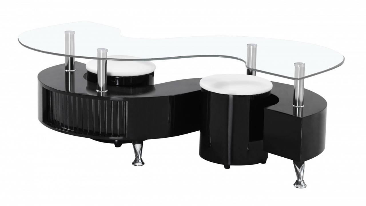 S Shaped Coffee Table With 2 Stools | Coffee Tables Decoration intended for Gloss Coffee Tables (Image 26 of 30)