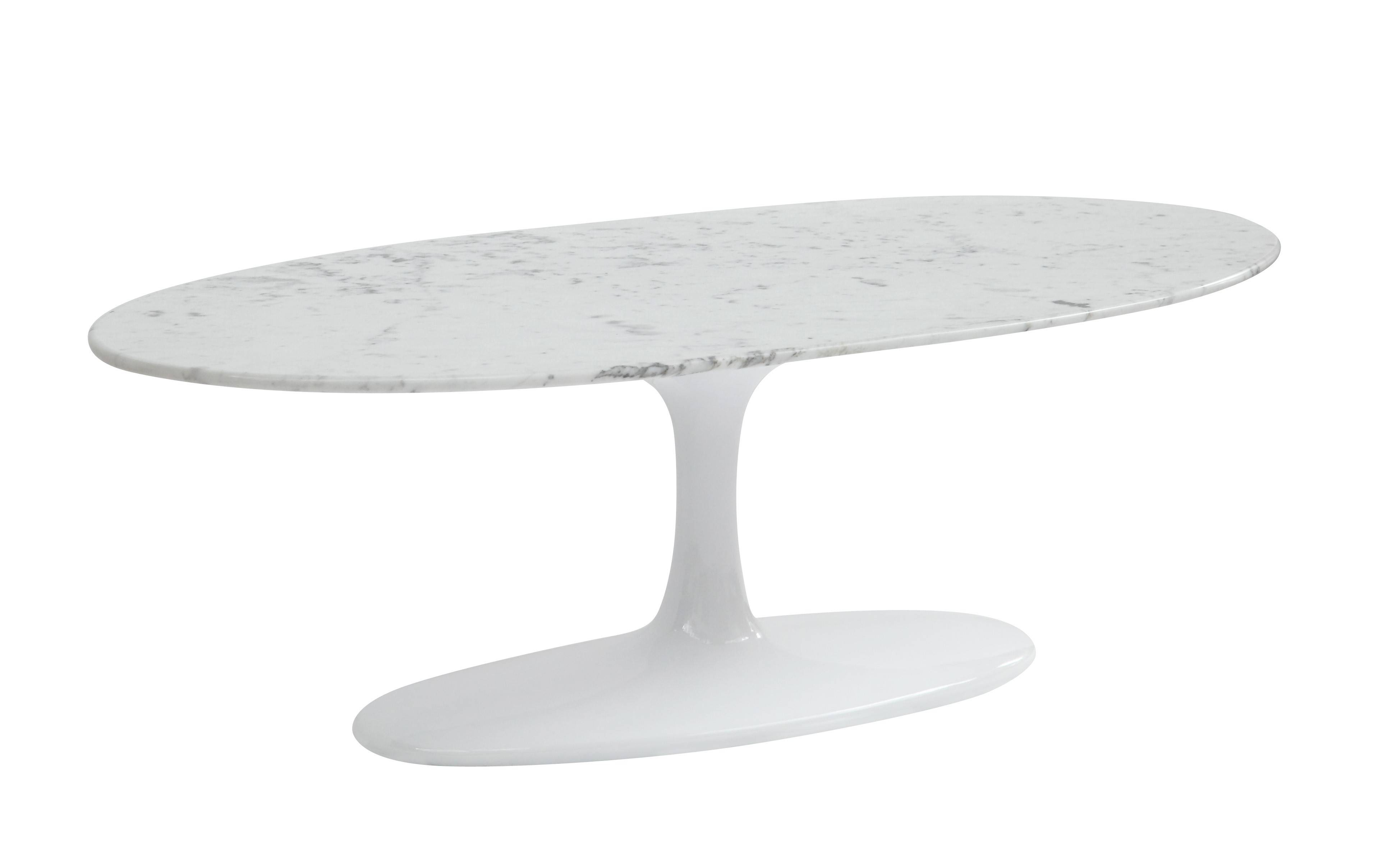 Saarinen Style Rectangle/oval Hybrid Coffee Table (Multiple Colors intended for Oval White Coffee Tables (Image 28 of 30)