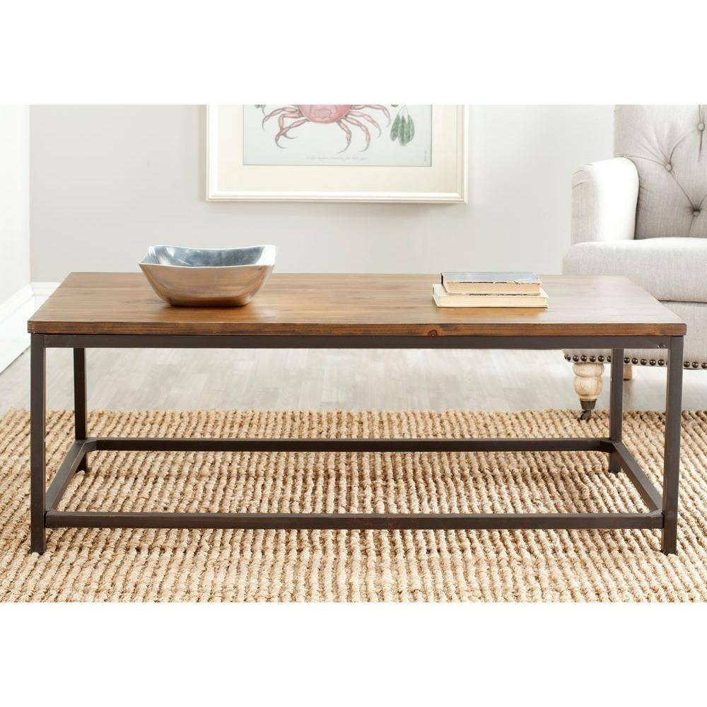 Safavieh Alec Weathered Barnwood Coffee Table-Amh6545F - The Home inside Safavieh Coffee Tables (Image 7 of 30)