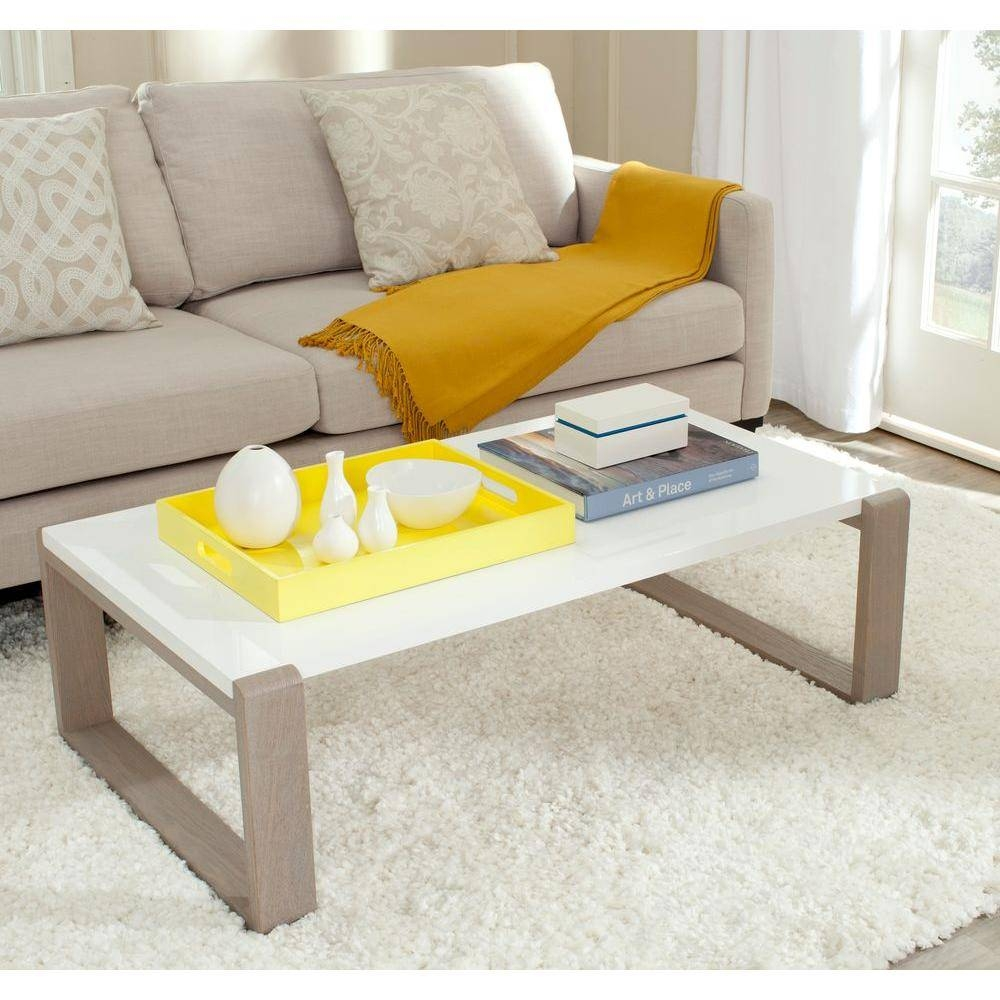 Safavieh Bartholomew Grey Coffee Table-Fox4210B - The Home Depot regarding Grey Coffee Tables (Image 28 of 30)