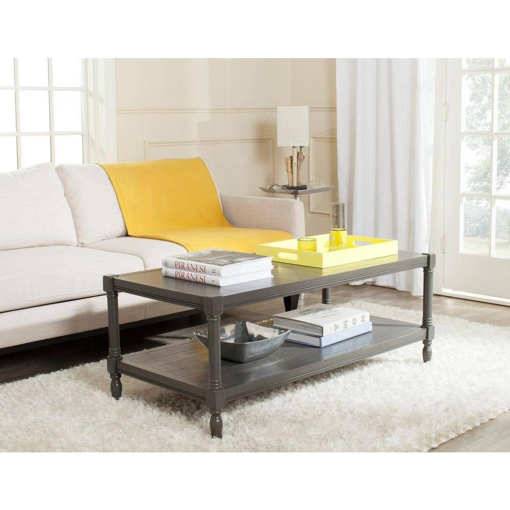 Safavieh Bela Grey Storage Coffee Table Amh5734A – The Home Depot Throughout Storage Coffee Tables (View 26 of 30)