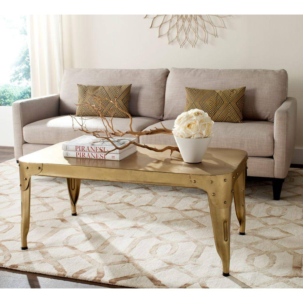 Safavieh Classic Gold Coffee Table-Fox7205B - The Home Depot regarding Safavieh Coffee Tables (Image 12 of 30)