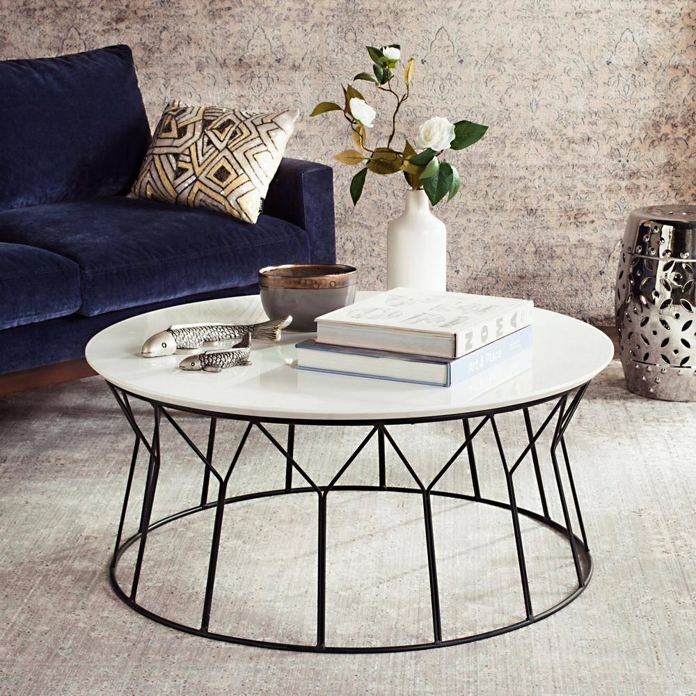 Safavieh Deion Retro Mid Century Lacquer White Coffee Table regarding Retro White Coffee Tables (Image 26 of 30)