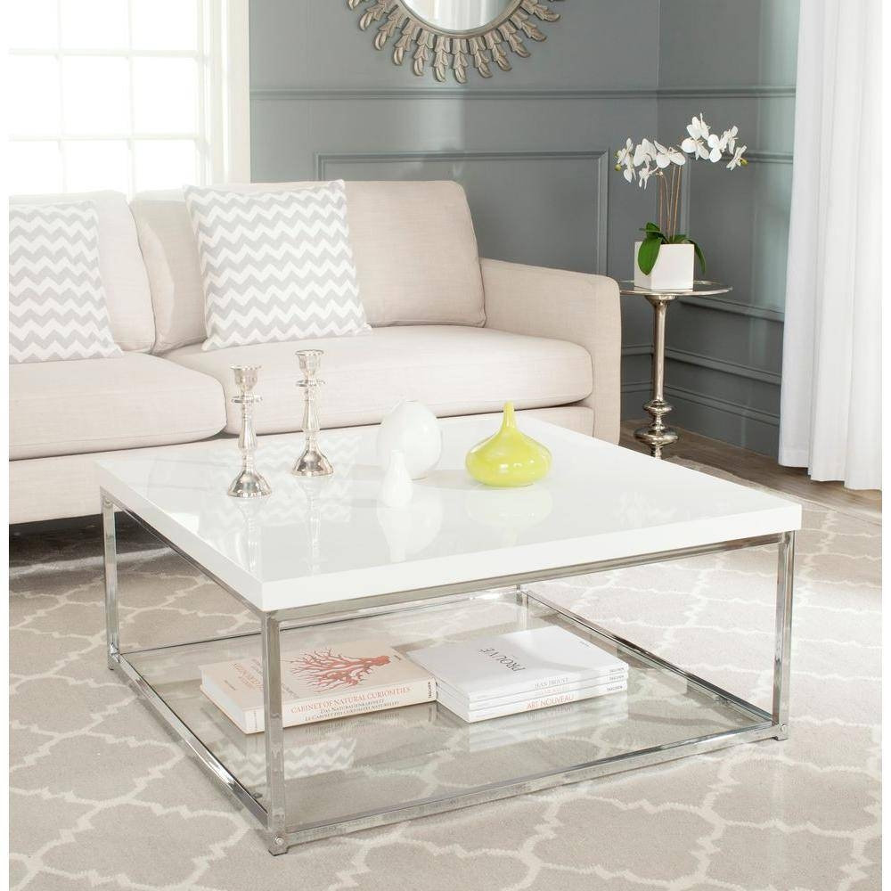 Safavieh Malone White Coffee Table-Fox2214A - The Home Depot regarding Safavieh Coffee Tables (Image 18 of 30)