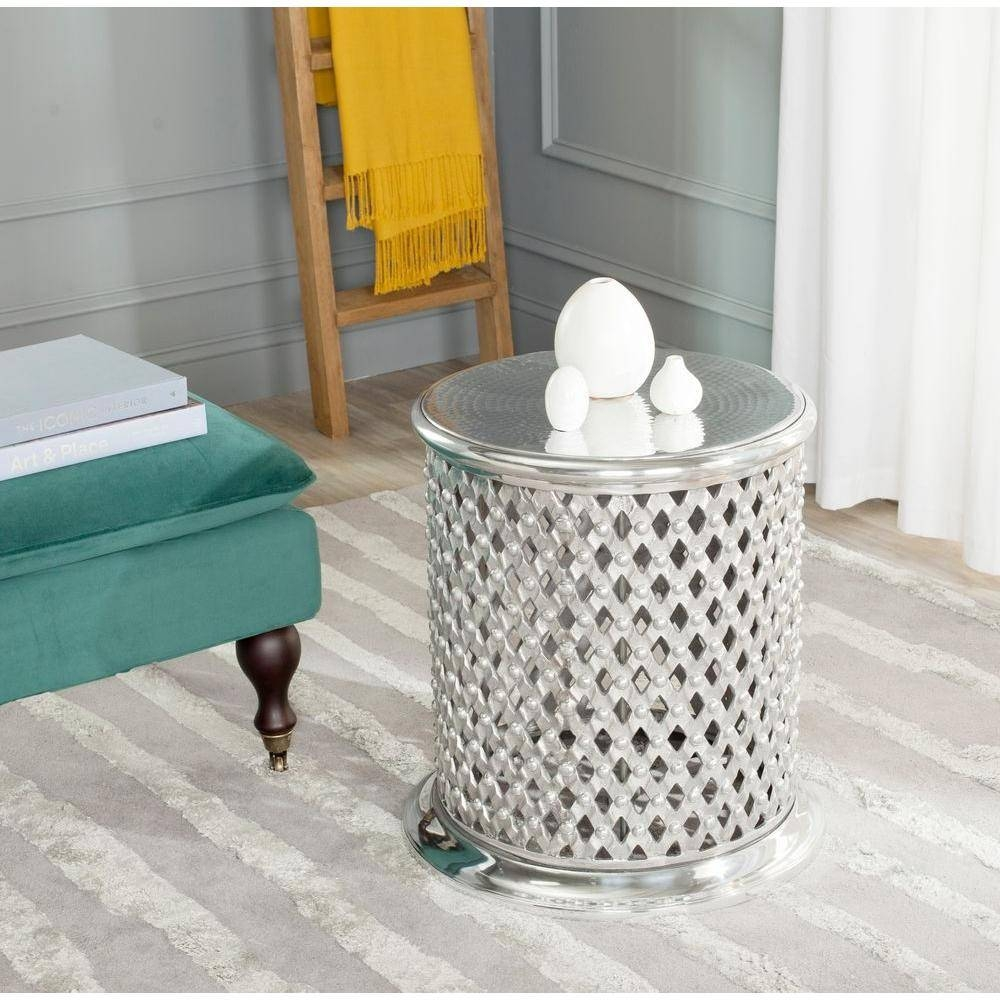 Safavieh Silver End Table-Fox5518A - The Home Depot for Hammered Silver Coffee Tables (Image 23 of 30)