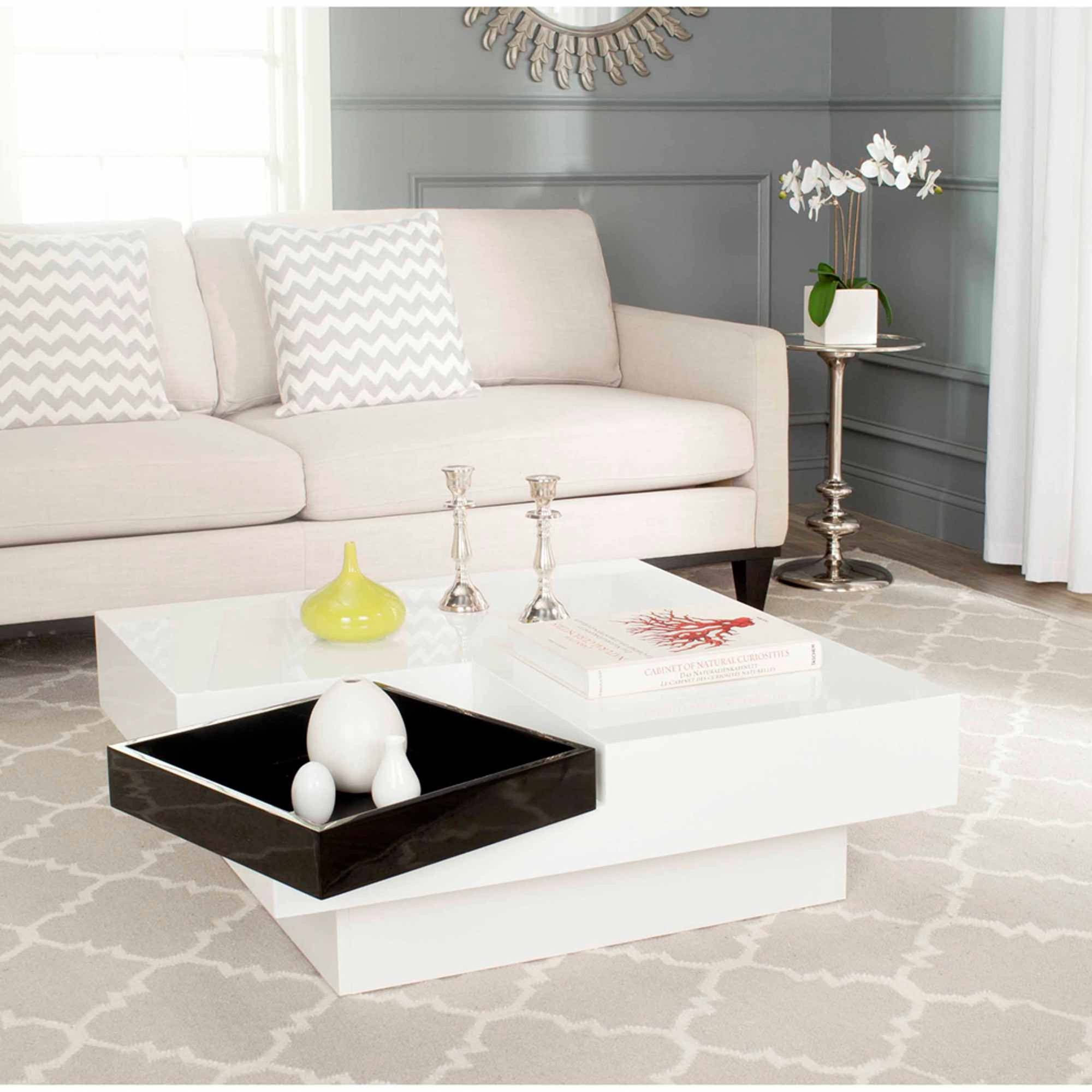 Safavieh Wesley Coffee Table, White And Black - Walmart pertaining to Safavieh Coffee Tables (Image 22 of 30)