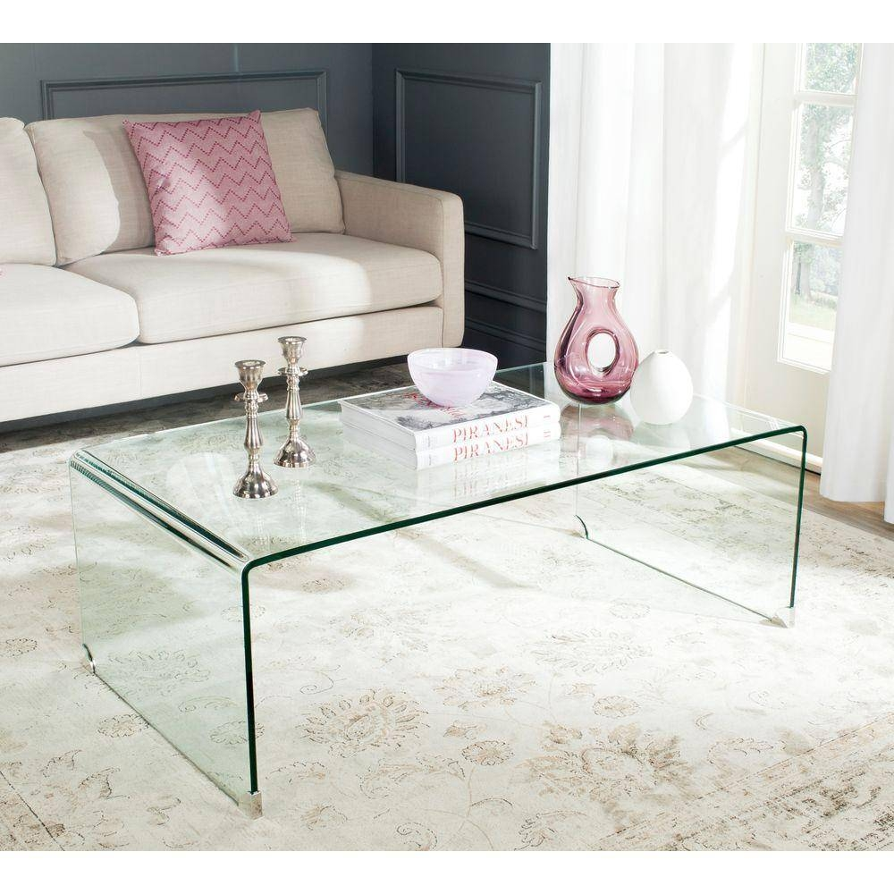 Safavieh Willow Clear Coffee Table-Fox6014A - The Home Depot throughout Safavieh Coffee Tables (Image 24 of 30)