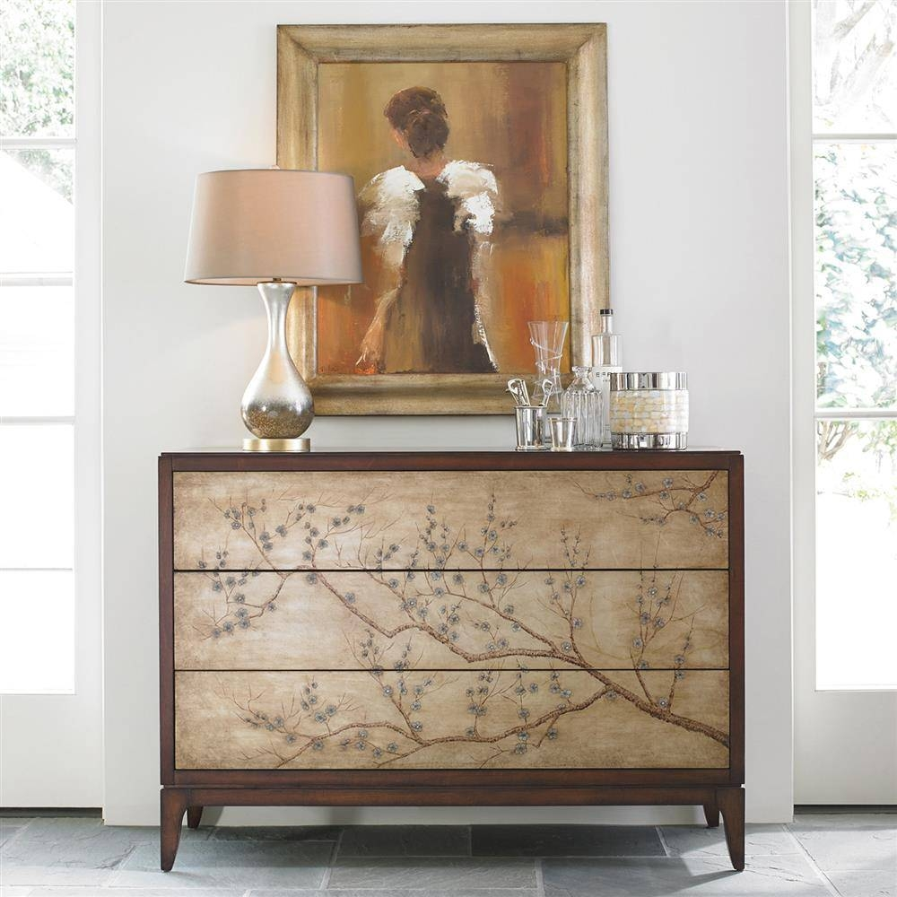 Saigon Chinoiserie Cherry Blossom Rich Mahogany Sideboard | Kathy with Chinoiserie Sideboards (Image 21 of 30)