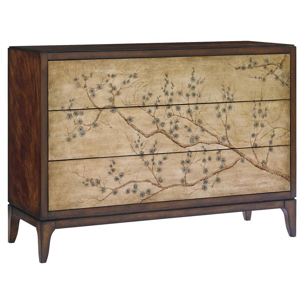 Saigon Chinoiserie Cherry Blossom Rich Mahogany Sideboard | Kathy with Chinoiserie Sideboards (Image 20 of 30)