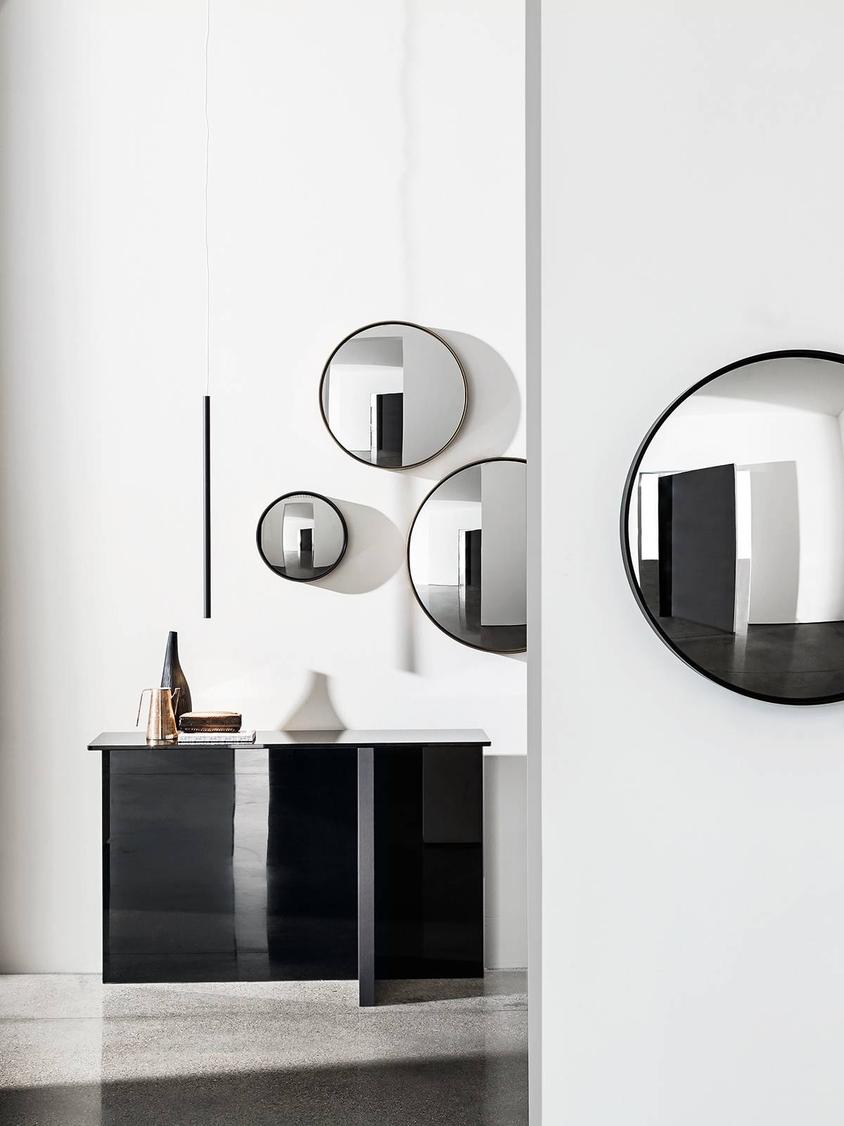 Sail - Decorative Convex Mirror - Small Unique Wall Mounted Mirror. inside Black Convex Mirrors (Image 19 of 25)