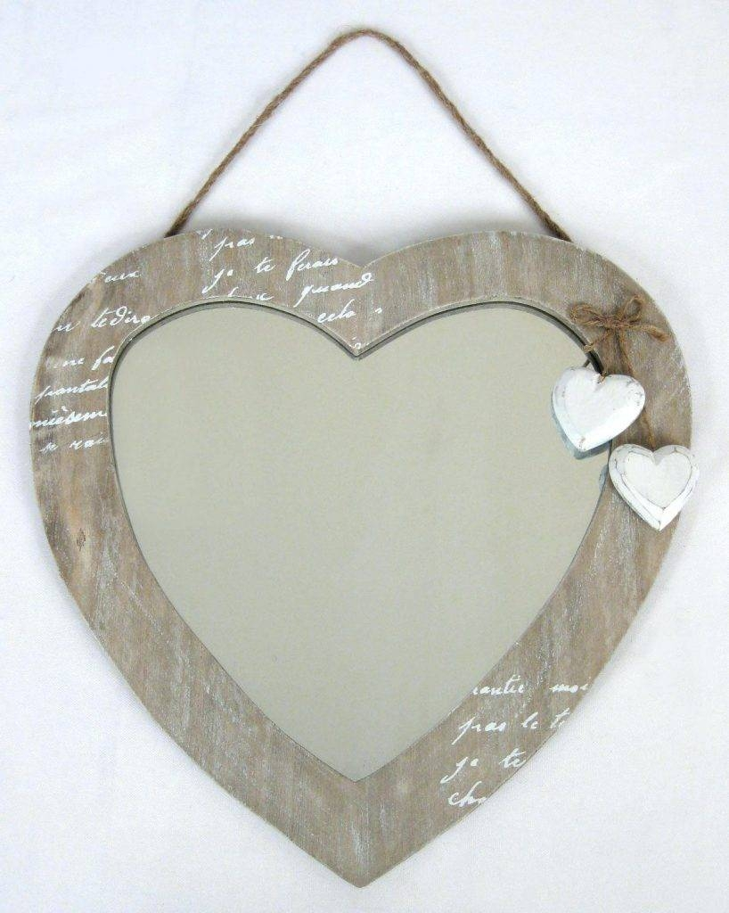 Sale Vintage Oval Shaped Wall Mirror With Abstract Heart Framelove intended for Heart Venetian Mirrors (Image 23 of 25)
