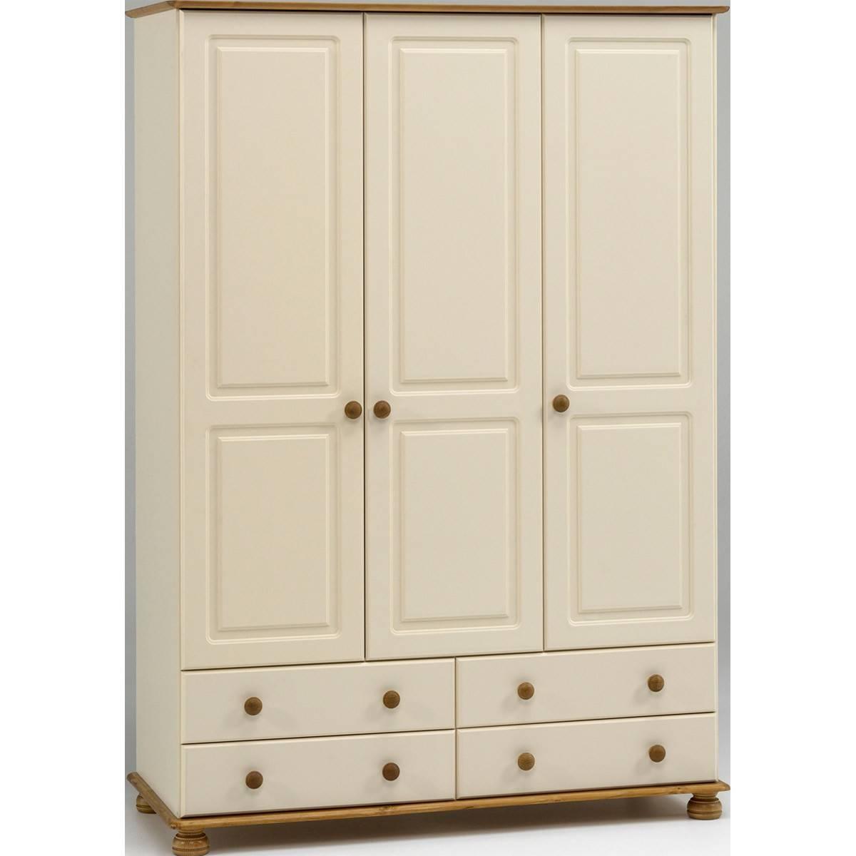 Salisbury Cream And Pine 3 Door 4 Drawer Wardrobe From The for 3 Door Pine Wardrobes (Image 12 of 15)