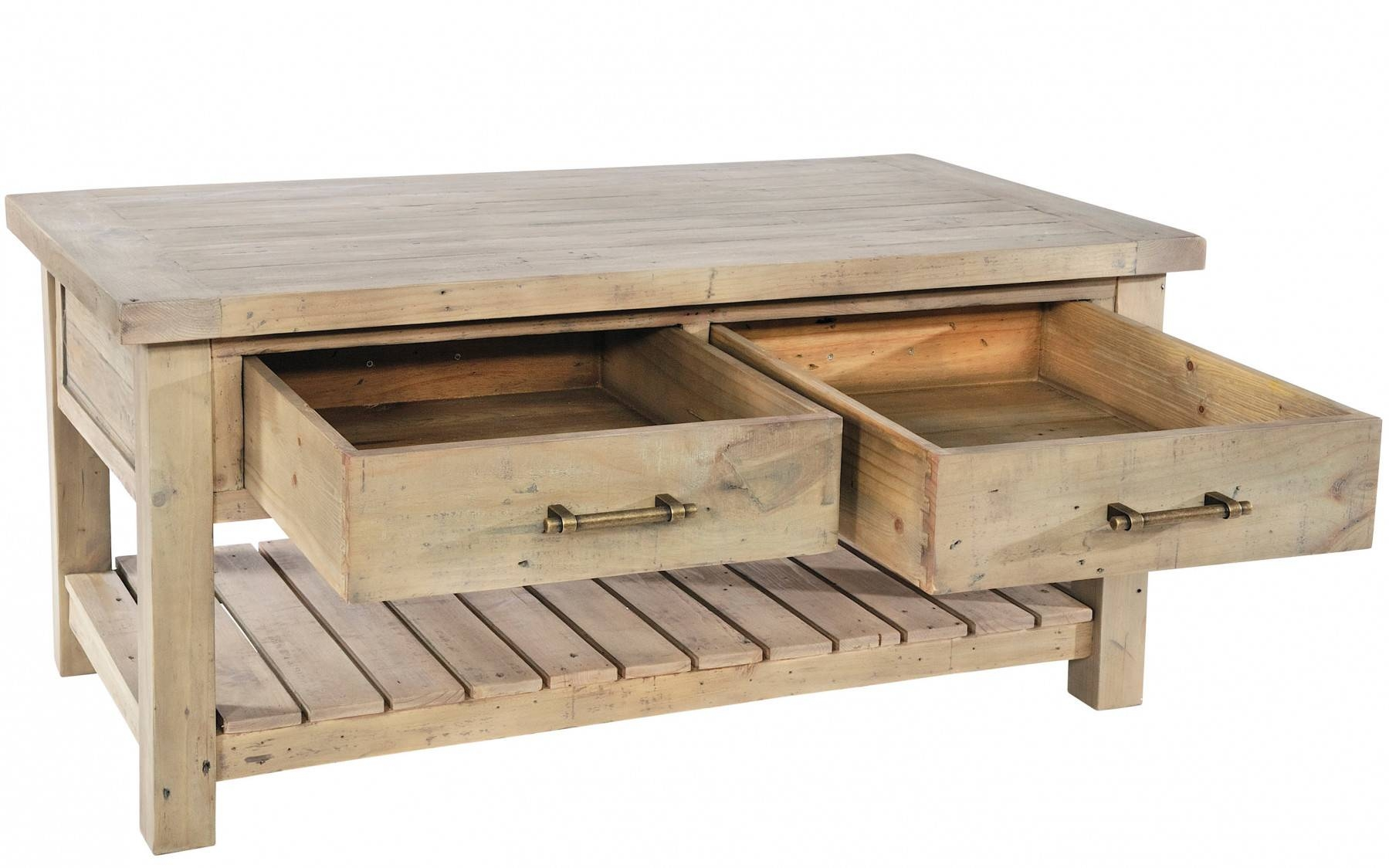 Saltash Reclaimed Pine Coffee Table | Buy At Kontenta Pertaining To Old Pine Coffee Tables (View 29 of 30)