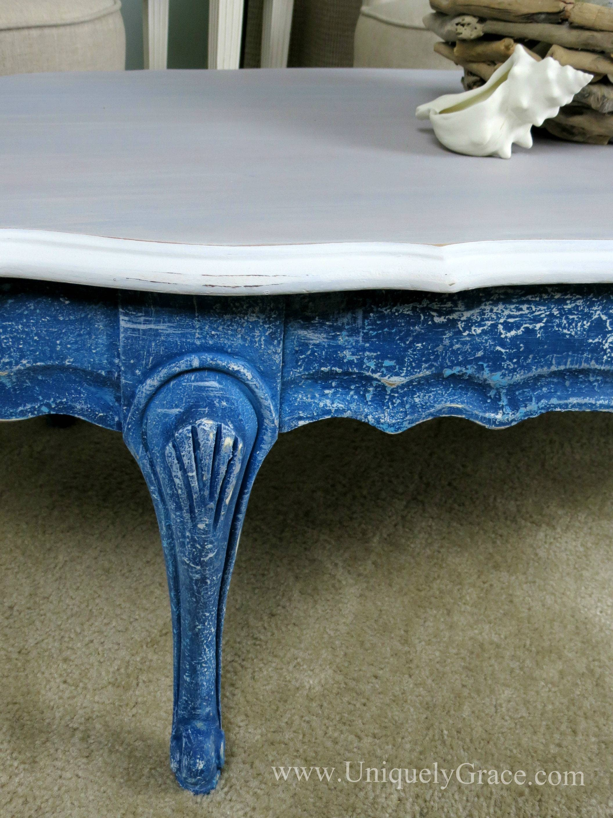Saltwash And Chalk Paint Coastal Coffee Table Flip! for Blue Coffee Tables (Image 29 of 30)