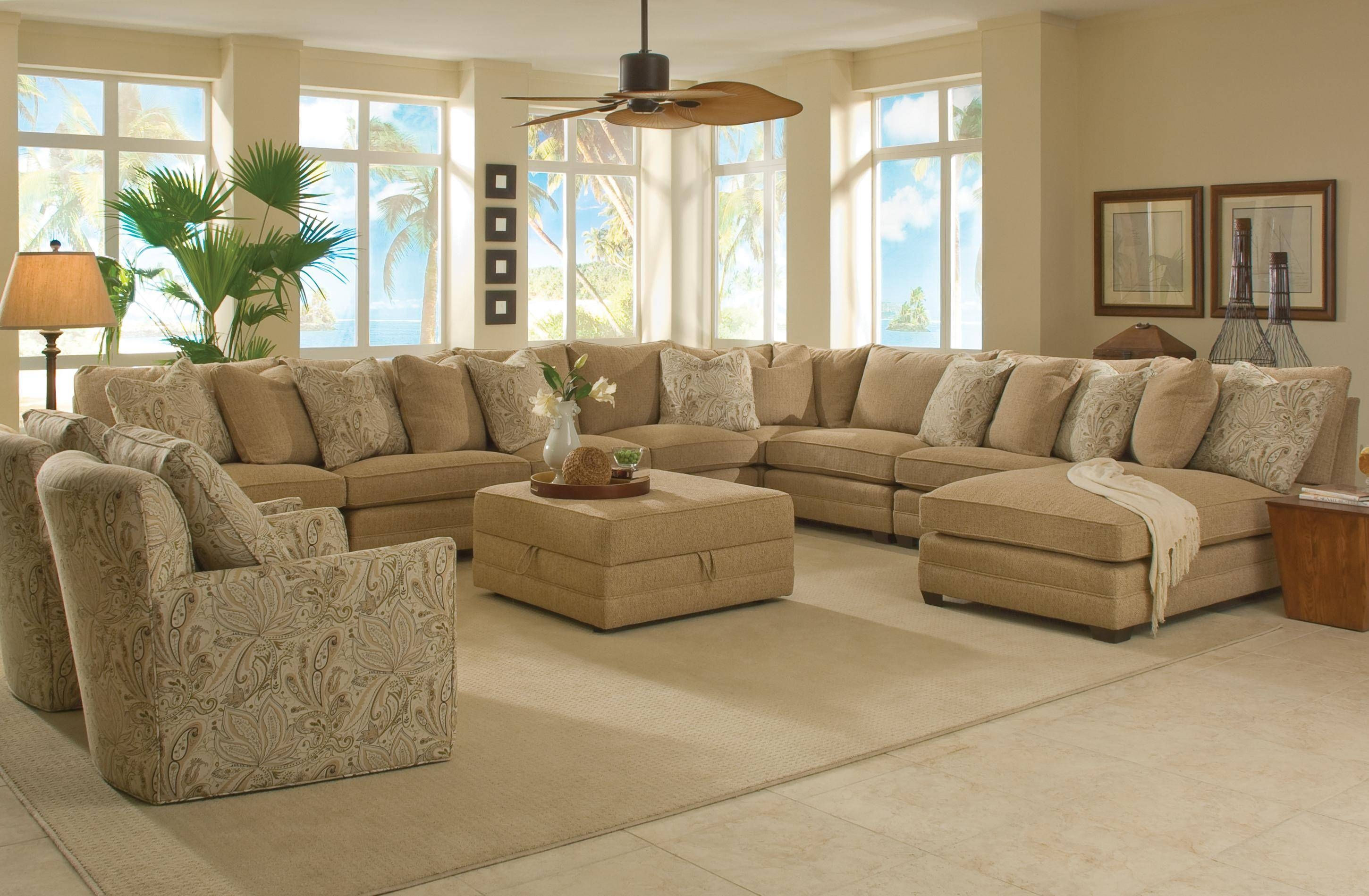 Sam Moore Margo Wide Sectional Sofa | Moore's Home Furnishings regarding Extra Wide Sectional Sofas (Image 26 of 30)