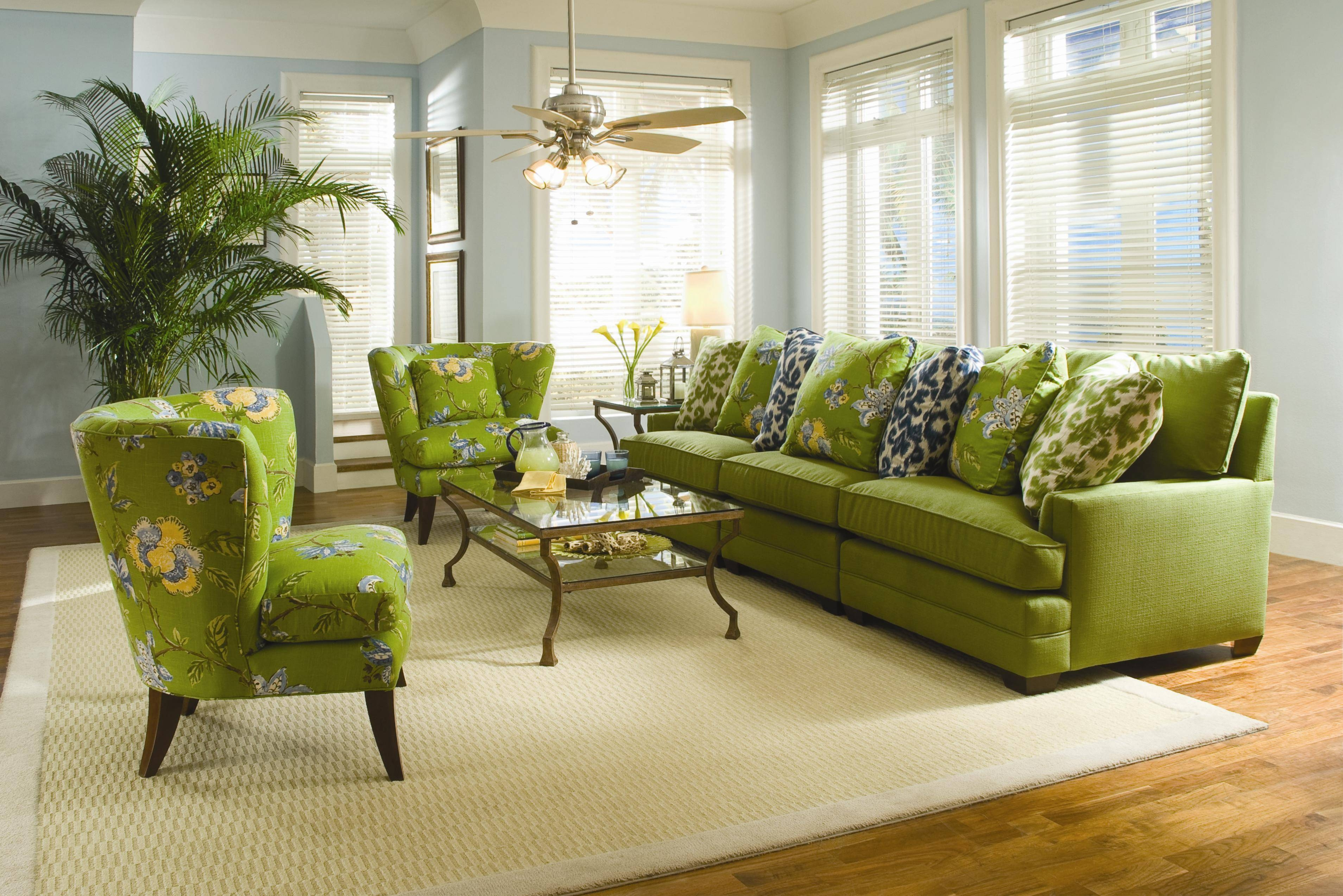 Sam Moore Margo Wide Sectional Sofa | Moore's Home Furnishings with Green Sectional Sofa (Image 22 of 30)