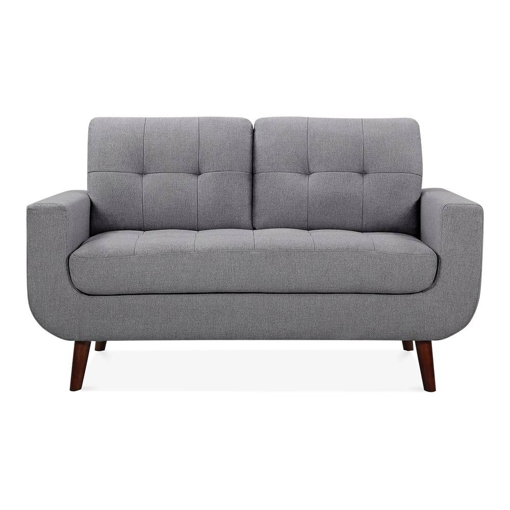 Sander 2 Seater Small Sofa Fabric Upholstered Grey | Cult Furniture Uk for Small 2 Seater Sofas (Image 10 of 30)