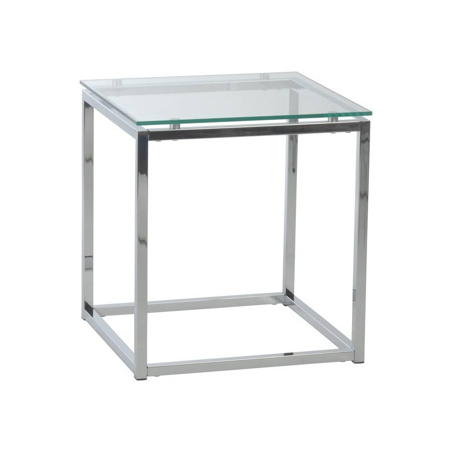 Sandor Side Tableeuro Style - All World Furniture inside White And Chrome Coffee Tables (Image 26 of 30)