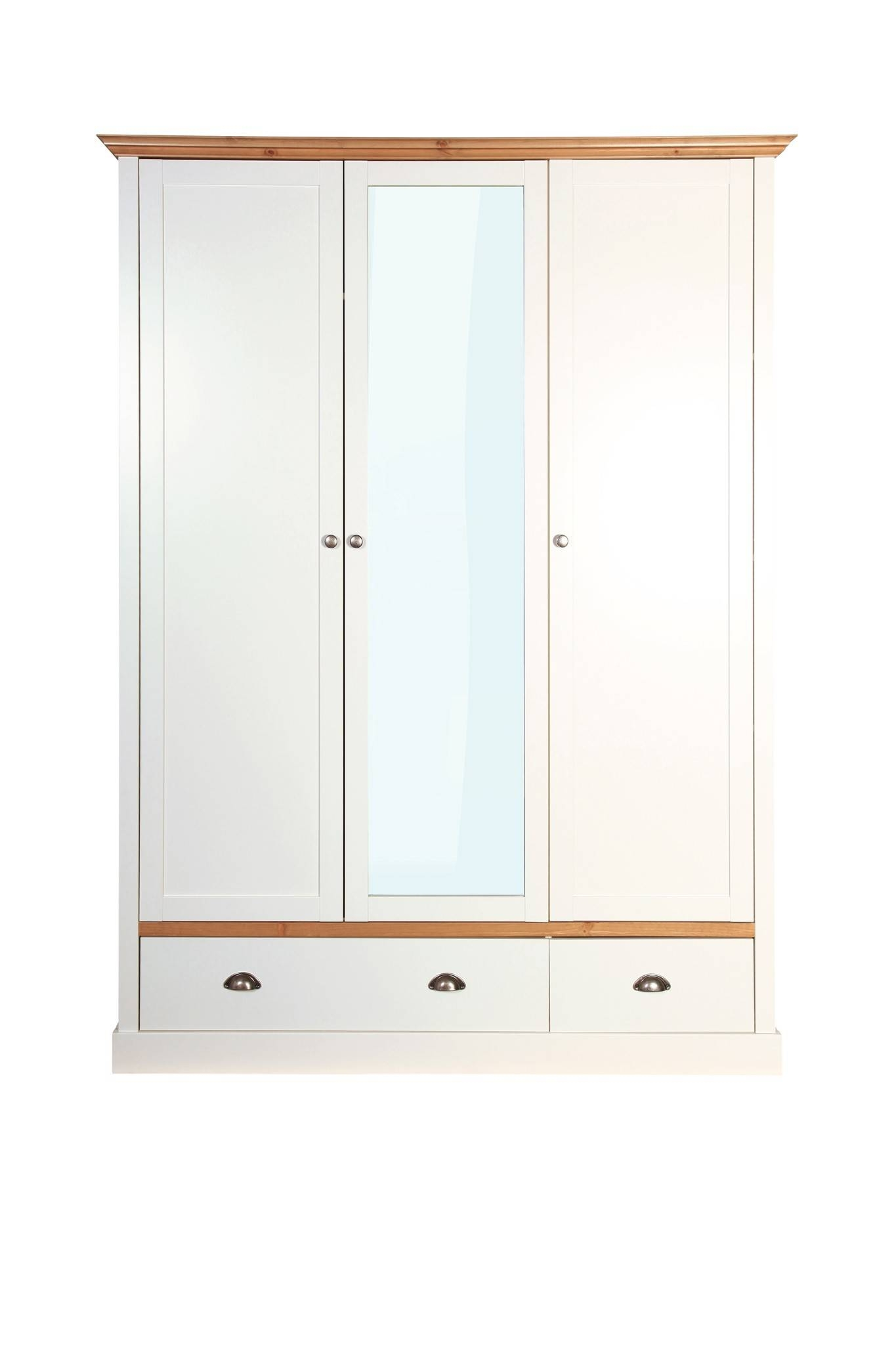 Sandringham 3 Door 2 Drawer Wardrobe White From The Original within 3 Door White Wardrobes (Image 20 of 30)